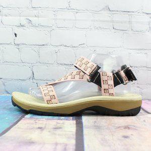 LL Bean Pink Nylon Strappy Adjustable Sandals Sz 9